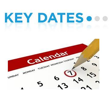 Key dates August 2016
